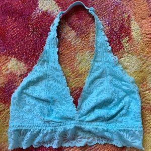 Victoria's Secret PINK lt turquoise lace bralette